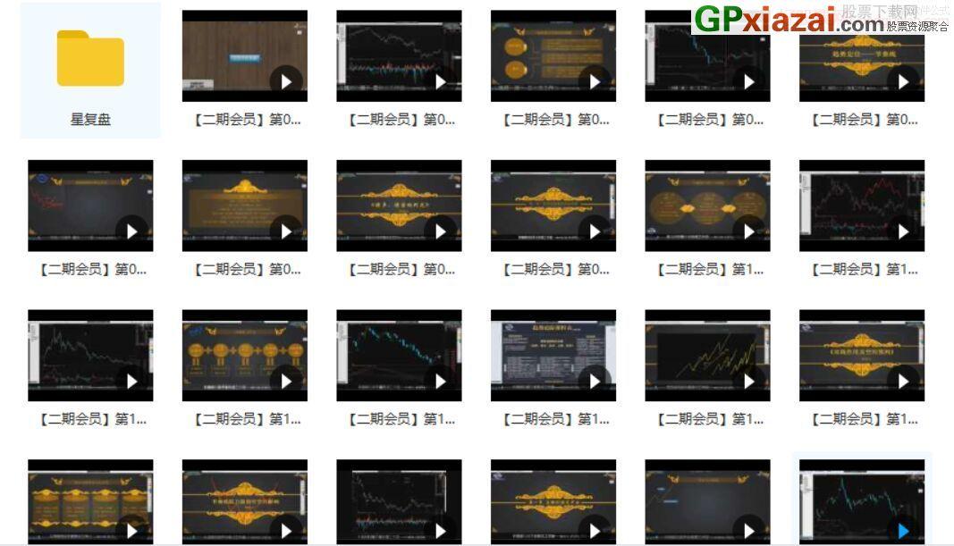 星雅龙 二期培训课《趋势追踪》精华版 视频课程 共41视频 高清版