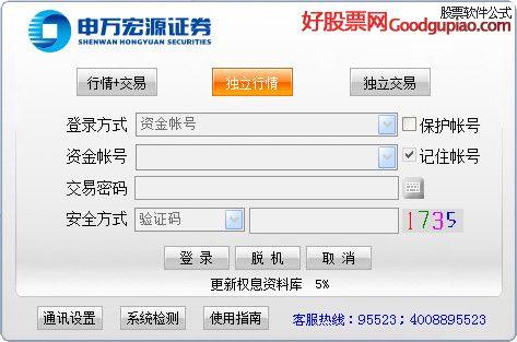 申万宏源通达信旗舰版V6.61 官方版 软件支持沪深传统五档行情