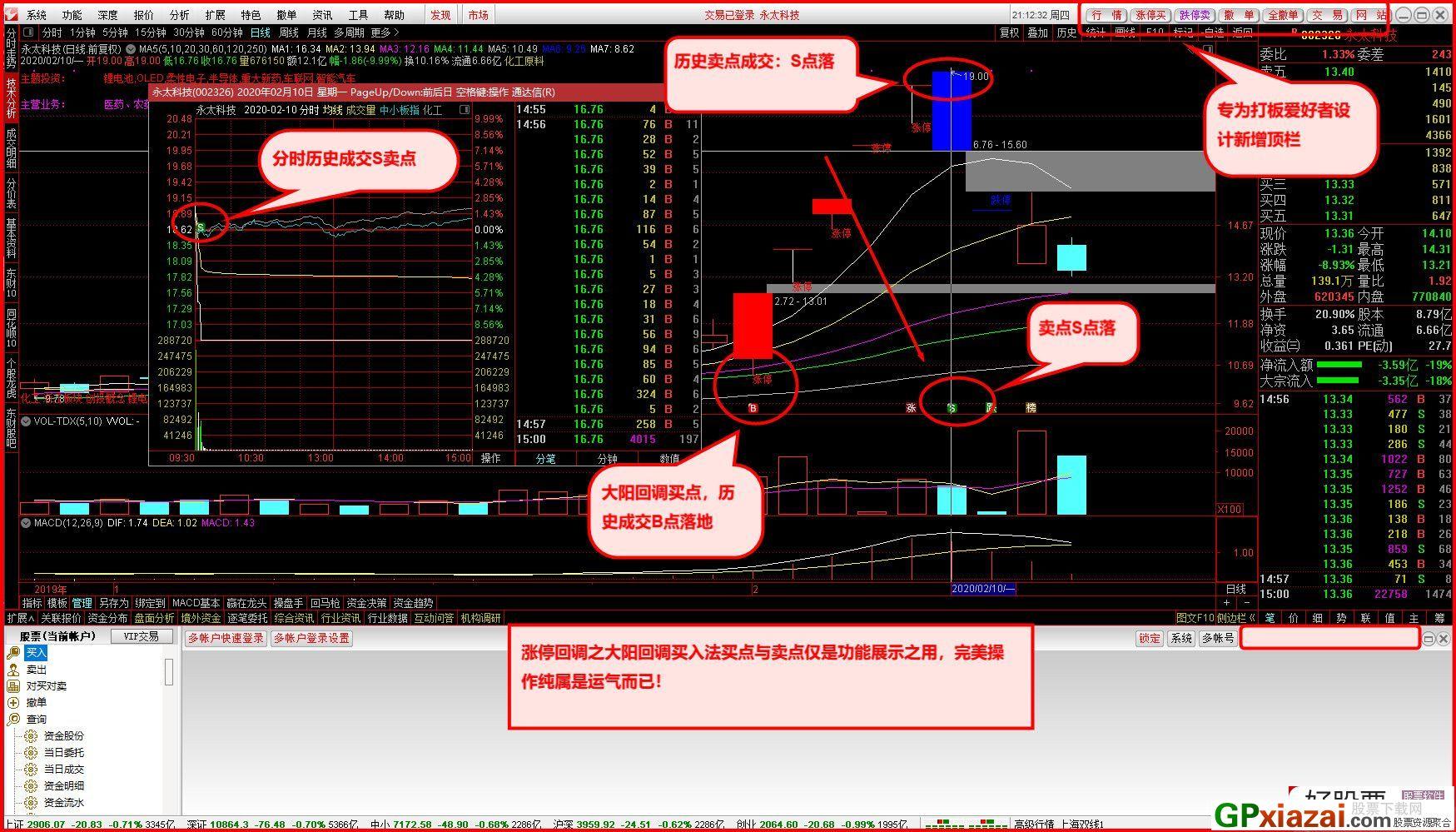 通达信金融交易终端(开心果交易版)V2020[最新5.932]打板专用